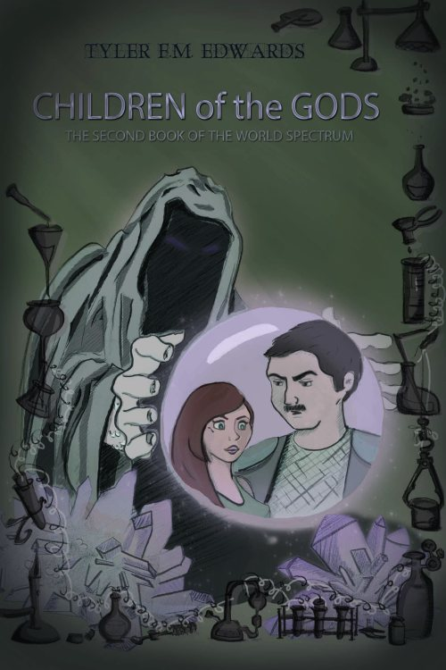Cover art for Children of the Gods, the Second Book of the World Spectrum